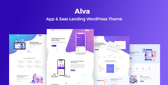 Alva- WordPress Theme For Saas Product
