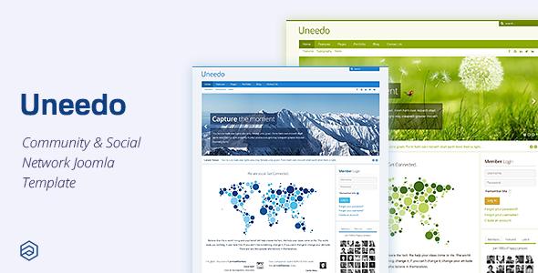 Uneedo - Responsive Social Network Community Joomla Template