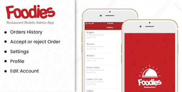 Foodies - IOS Native Order Taking Restaurant App Download