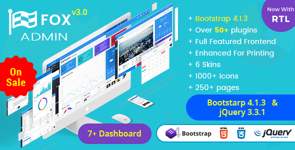 Fox - Multipurpose Bootstrap 4 Admin Dashboard Template UI Framework