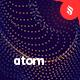 Atom - Defocused Wavy Particles Background Set - GraphicRiver Item for Sale