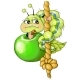 Vector Illustrations Green Apple Caterpillar - GraphicRiver Item for Sale