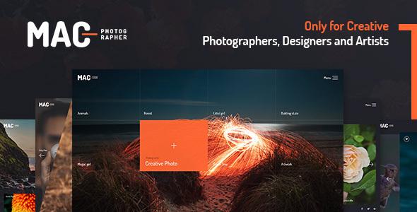 MAC - Photography Fullscreen WordPress Theme