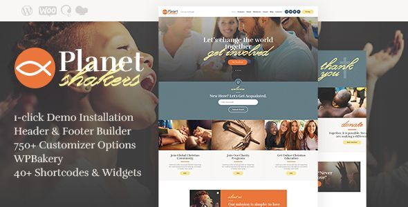 Planet Shakers | Church & Religion WordPress Theme 2
