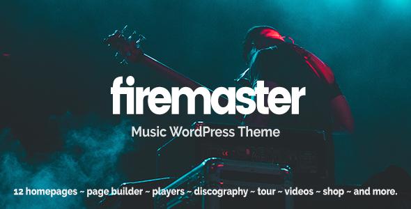 Firemaster - A Creative Music WordPress Theme