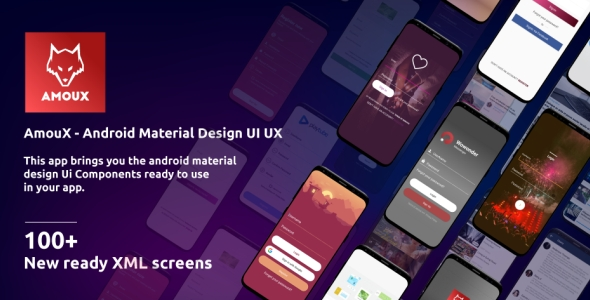 AmouX - Android Material UI Templates for Xamarin and Android Studio Download