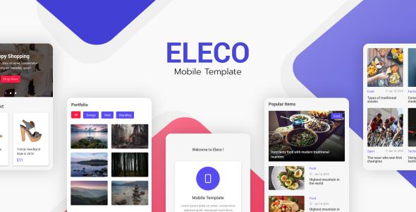 Eleco - Mobile Template