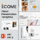 Ecome Clean Presentation Template - GraphicRiver Item for Sale