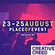 Music Event Promo Opener / Party Invitation Slideshow / EDM Festival / Night Club - VideoHive Item for Sale