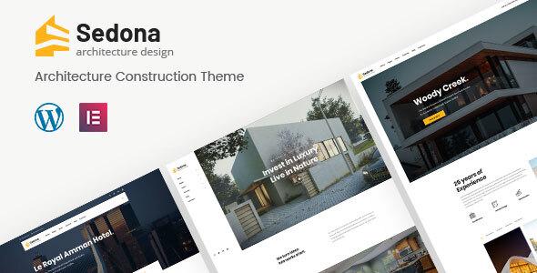 Sedona   Elementor Architecture Construction WordPress Theme
