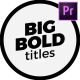Modern Big Titles   Premiere Pro - VideoHive Item for Sale