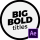 Modern Big Titles   After Effects - VideoHive Item for Sale