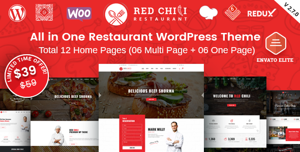 RedChili - Restaurant WordPress Theme