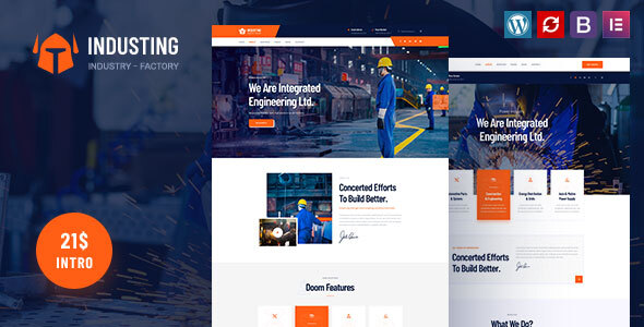 Industing - Factory & Business WordPress Theme