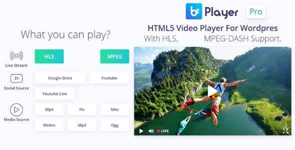 bzplayer Pro - Live Streaming Player WordPress Plugin Download