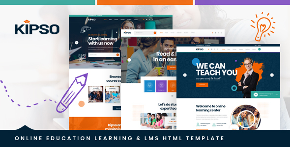 Kipso - Online Education Learning & LMS HTML Template