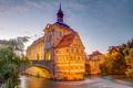 Illuminated historic town hall of Bamberg - PhotoDune Item for Sale