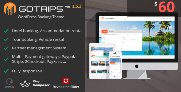 Gotrips | WordPress Travel Booking Theme