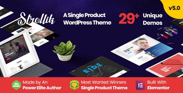 Strollik – Single Product WooCommerce WordPress Theme