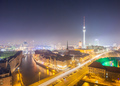View over Berlin Alexanderplatz at night - PhotoDune Item for Sale