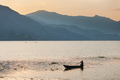 Boats on Phewa Lake at sunset - PhotoDune Item for Sale