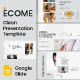 Ecome Minimal Google Slide - GraphicRiver Item for Sale
