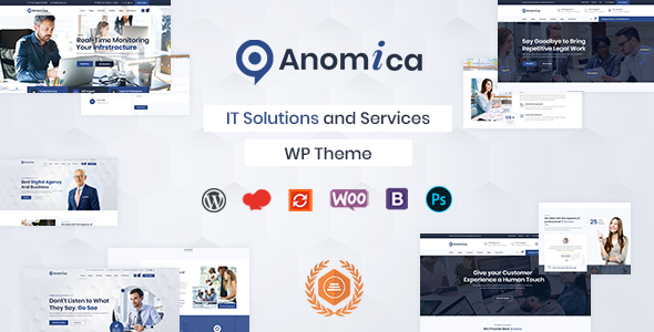 Anomica - IT Solutions and Services WordPress Theme
