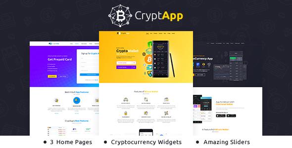 Crypt App - Landing Page Theme