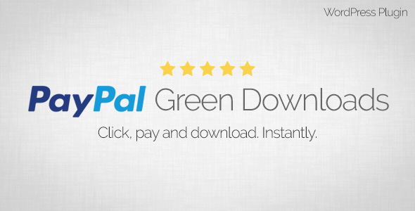 PayPal Green Downloads - WordPress Plugin