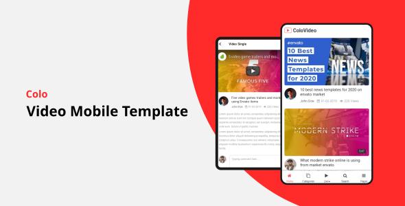 Colo - Video Mobile Template