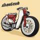 StreetCub Super Cub Vintage Motorcycle - GraphicRiver Item for Sale
