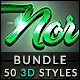 50 3D Text Effects - Bundle Vol. 05 - GraphicRiver Item for Sale