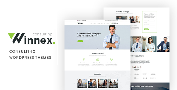 Winnex - Business Consulting WordPress Themes
