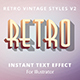 Retro Vintage Text Effects v2 - GraphicRiver Item for Sale