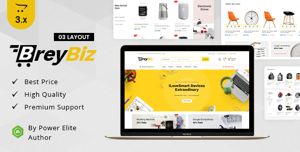 BreyBiz - Multipurpose OpenCart 3 Theme