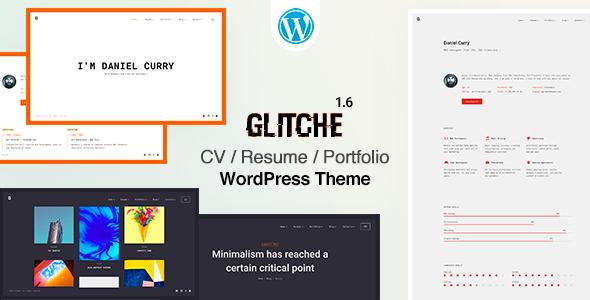 Glitche - Resume CV Theme