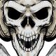 Biker Skull Illustration - GraphicRiver Item for Sale