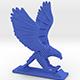 Sliced Hawk Desktoy - 3DOcean Item for Sale