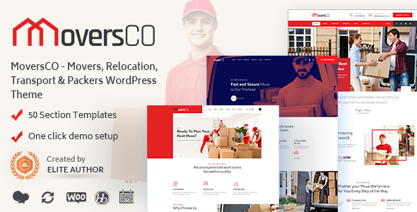 MoversCO - Movers & Packers WordPress Theme