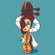 Violin Mascot Cartoon - GraphicRiver Item for Sale