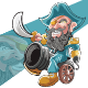 Happy Pirates Cannon Mascot Character - GraphicRiver Item for Sale