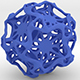 Drilled Perforated Dodecahedron Flower - 3DOcean Item for Sale