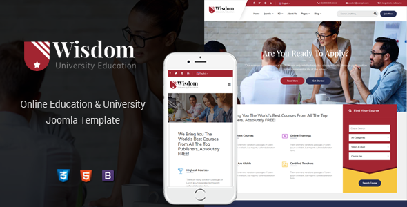 Wisdom - Multipurpose & Responsive Education Joomla Temple
