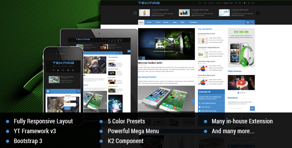 Tekmag -  Technology News/Magazine Joomla Template