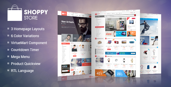 ShoppyStore -  Responsive Multipurpose VirtueMart Theme