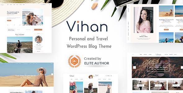 Vihan   Personal & Travel WordPress Blog Theme