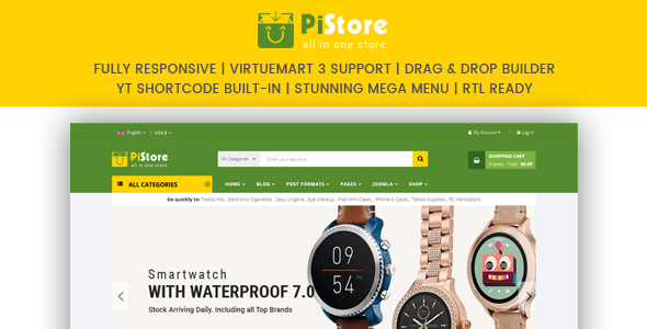 PiStore - Multipurpose eCommerce VirtueMart Template