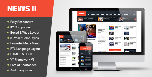 Download News II - Responsive News/Magazine Joomla Template Nulled