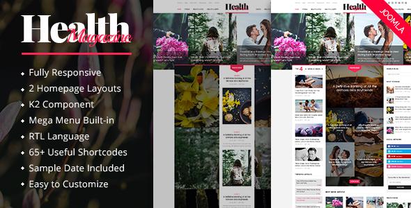 Download HealthMag - Multipurpose News/Magazine Joomla Template Nulled