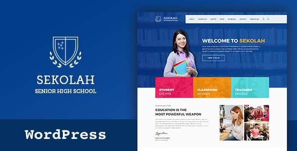 Sekolah - Senior High School WordPress Theme